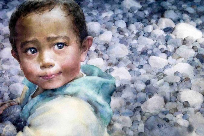 Акварельные портреты тайваньской художницы Линь Юйсю. Фото: Великая Эпоха (The Epoch Times)