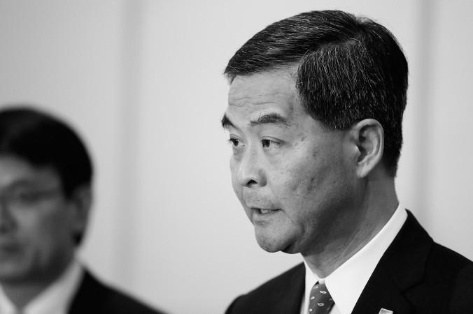 Глава Гонконга Лян Чжэньин 6 октября 2013 года. В Гонконге ходят слухи, что Лян скоро будет уволен или даже арестован. Фото: Putu Sayoga/Getty Images