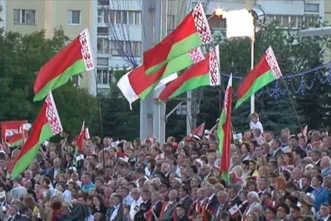 В Минске прошёл военный парад