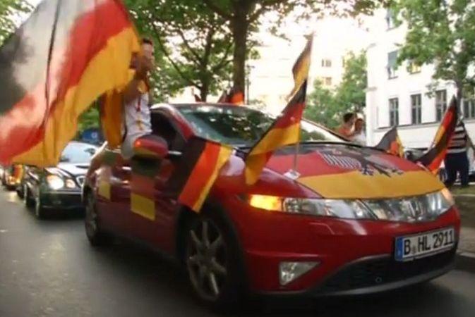 Германия празднует выход в полуфинал ЧМ по футболу