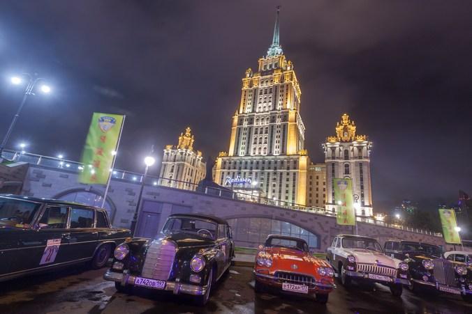 Москва, гонки, классические автомобили