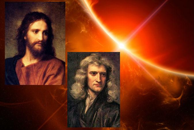 Изображение Иисуса, художник Хайнрих Хоффман, портрет Ньютона, художник Годфрид Кнеллер (1689).