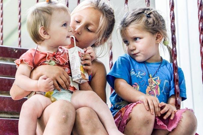 Украина, беженцы, общежития
