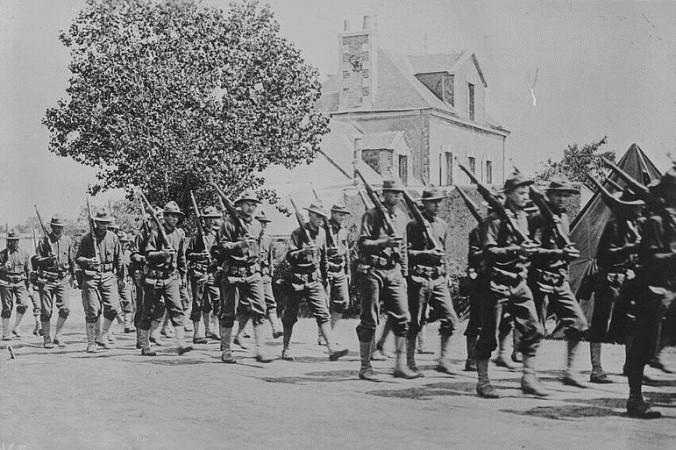 Американские войска во Франции во время Первой мировой войны. Фото: George Grantham Bain Collection/LibraryofCongress
