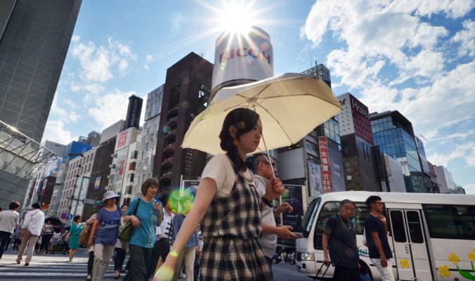 В Японии от жары умирают люди