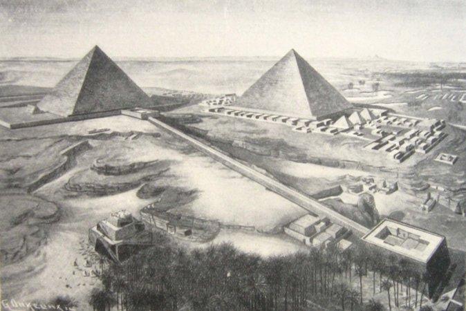 Великие пирамиды Гизы. Фото: Wikimedia