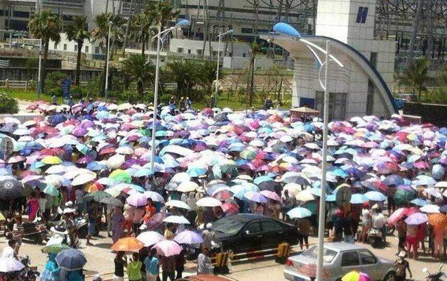 В Китае тысячи крестьян протестуют против запуска угольной электростанции
