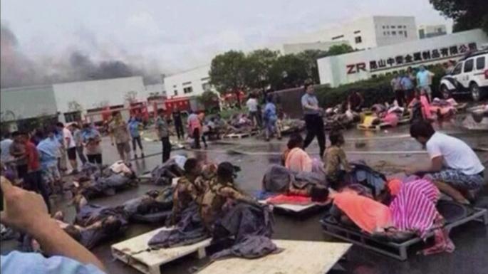 В результате взрыва на фабрике в Китае погибли более 60 человек, не менее 120 ранены