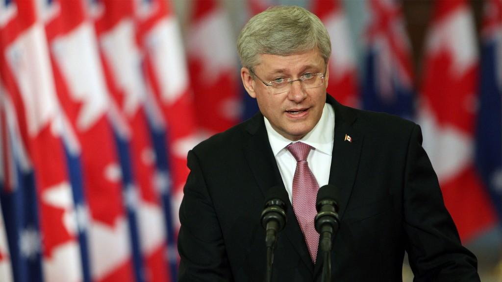 Премьер-министр Канады Стивен Харпер обращается к прессе на пресс-конференции в Оттаве 9 июня 2014 года. Фото: Cole Burston/AFP/Getty Images