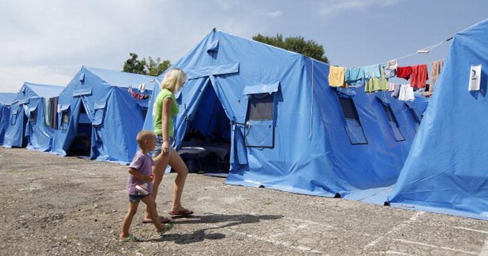 Лагерь украинских беженцев. Фото: MAXV VETROV/AFP/Getty Images
