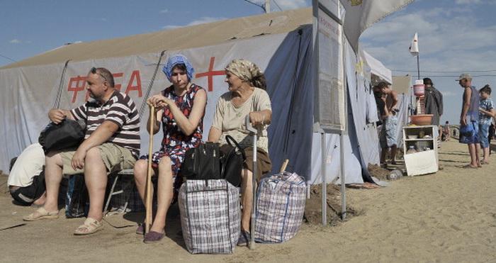 Беженцы из Восточной Украины. Фото: ANDREY KRONBERG/AFP/Getty Images