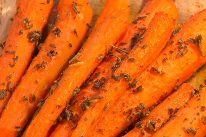 запечённая морковь, рецепты