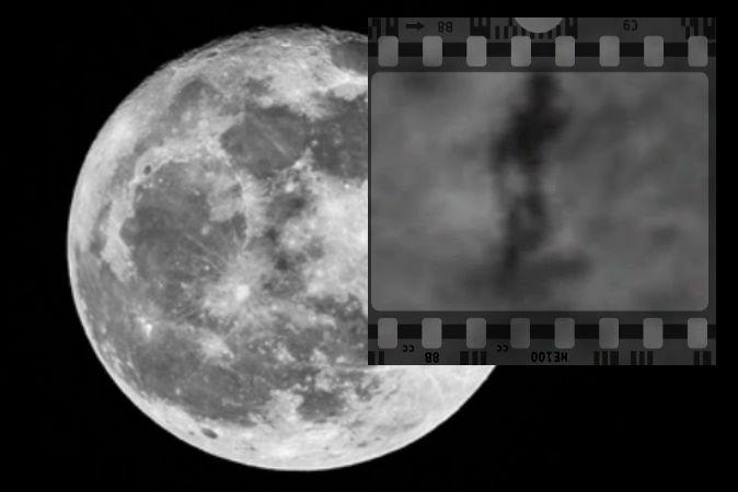 Размытая фигура на Луне. Одни считают, что это инопланетянин, другие — что обычная неисправность камеры лунного  орбитального зонда НАСА.  Фото: Screenshot/Google Moon/Background image of moon via Thinkstock