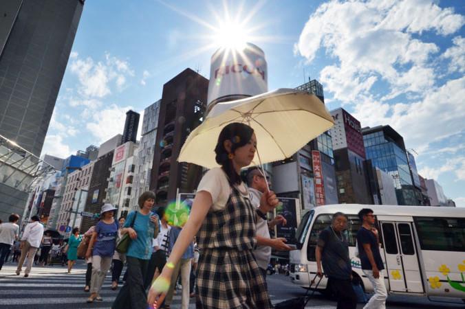В Японии из-за жары были госпитализированы 35 тысяч человек