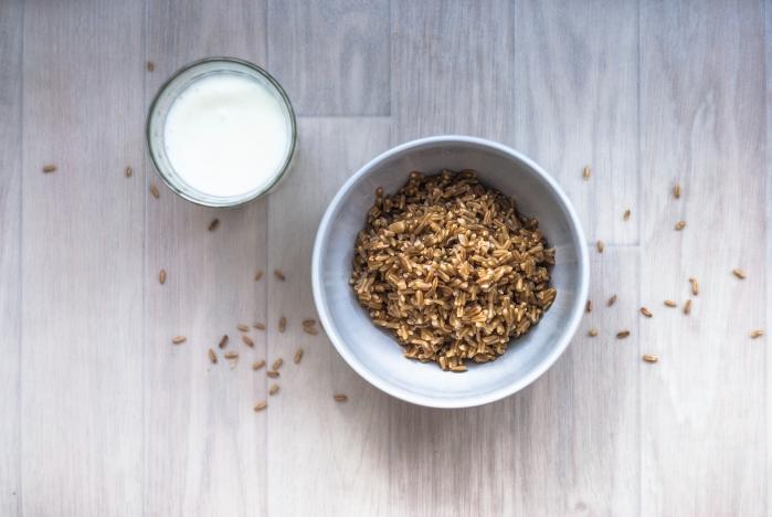завтрак, овсянка, молоко