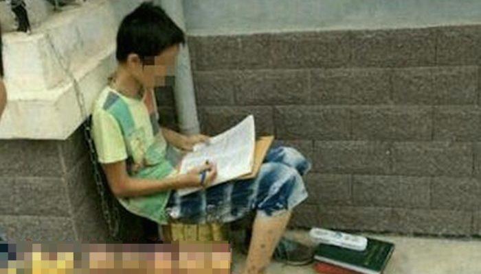 Родители в Китае жестоко обращаются с детьми