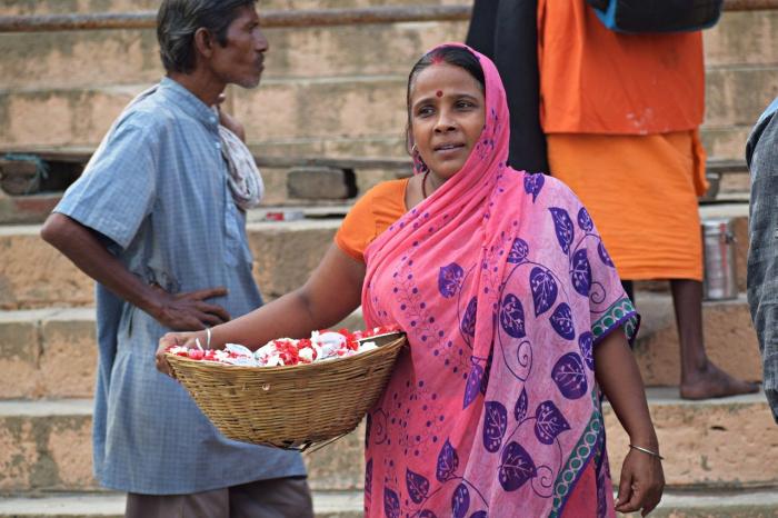 Жизнь вдов в религиозных индийских городах