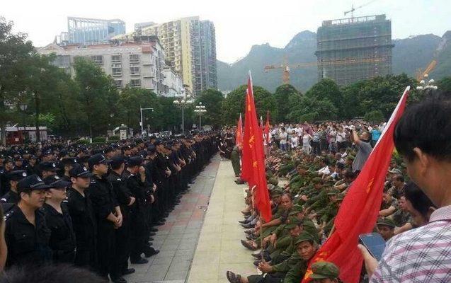 Ветераны в Китае требуют улучшения жизненных условий