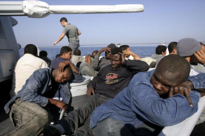 Лодка, мигранты, африканские, Италия
