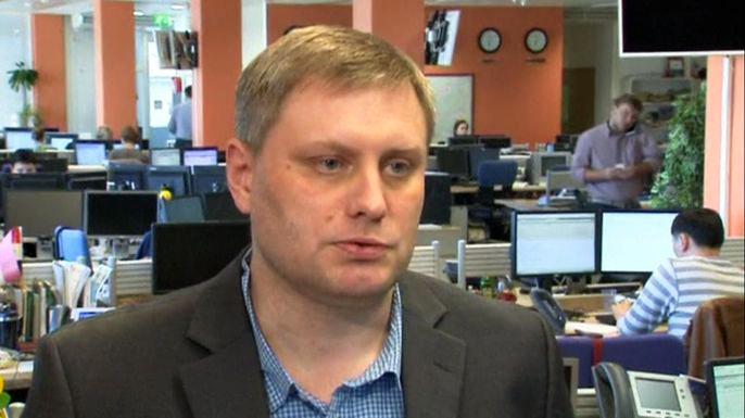 Призрак ЮКОСа вызвал панику на российском фондовом рынке. Скриншот видео.