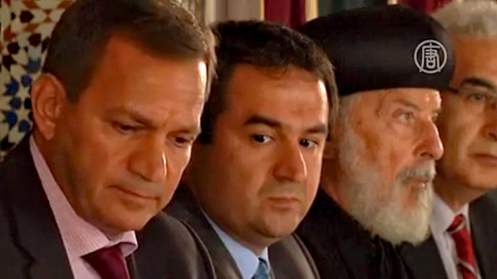 В Париже мусульмане и христиане выступили против «Исламского государства». Скриншот видео.