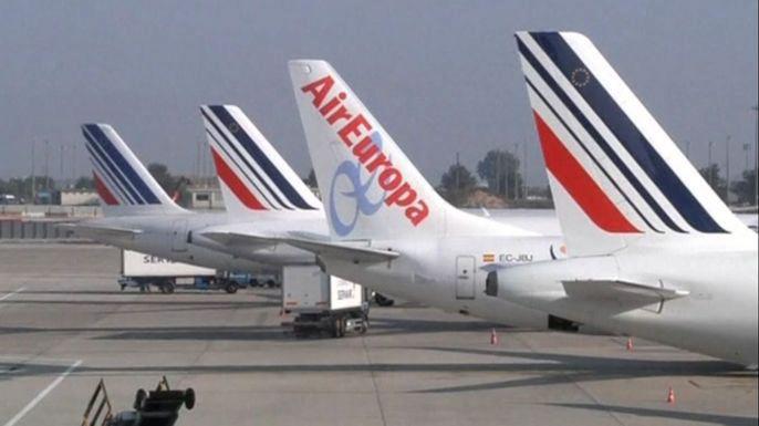 Во Франции началась недельная забастовка пилотов Air France. Скриншот видео.