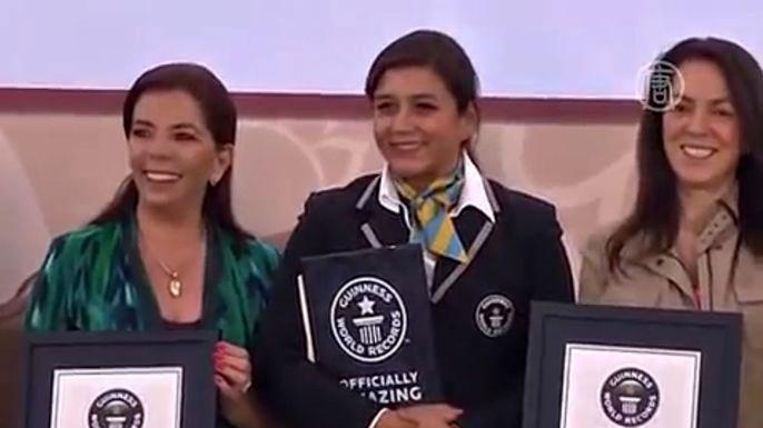 Мексиканцы установили сразу два рекорда Гиннесса. Скриншот видео.