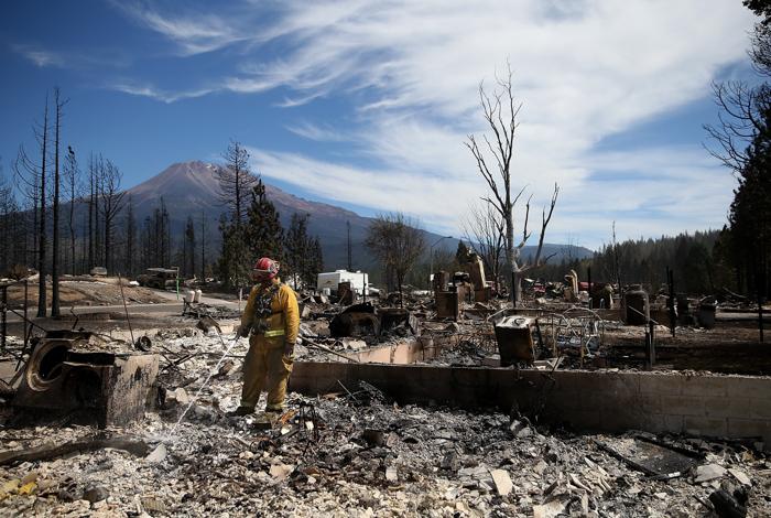 происшествия, лесные пожары, США