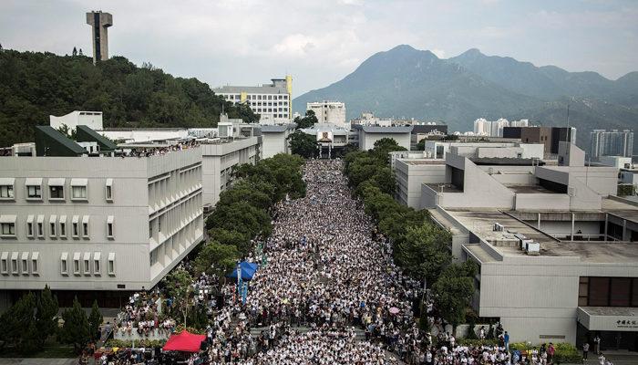 Тысячи студентов в Гонконге устроили митинг против политики КНР