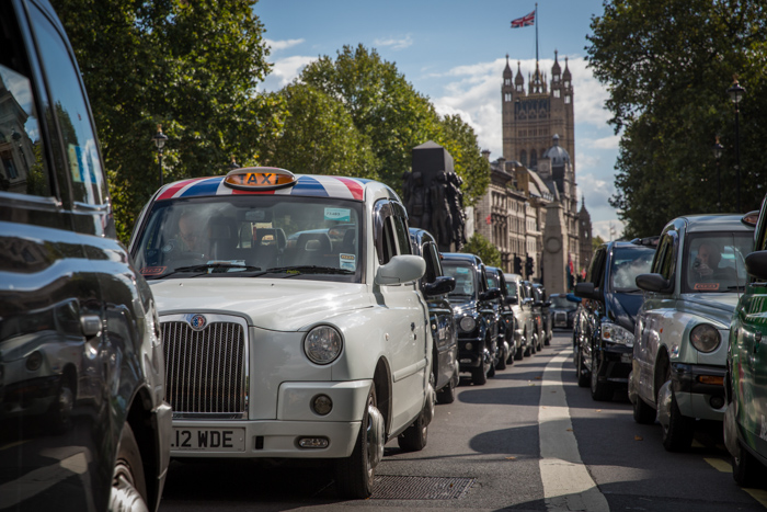 Demonstration By London Taxi Drivers
