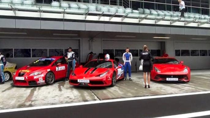 В Сочи открыли новый автодром «Формулы-1». Скриншот видео.