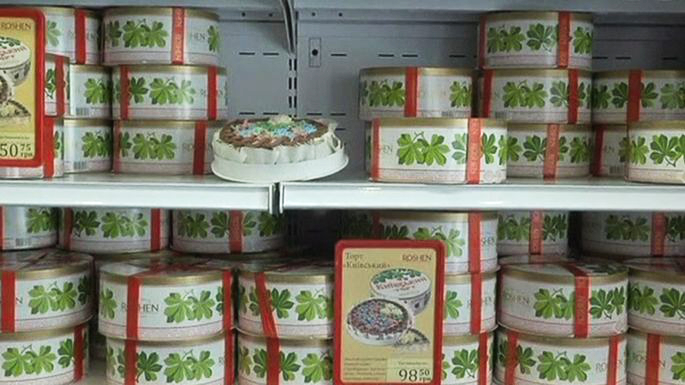 Россия запретила ввоз кондитерских изделий с Украины