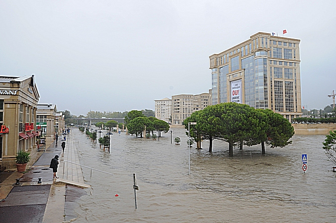 Франция, паводок, наводнение