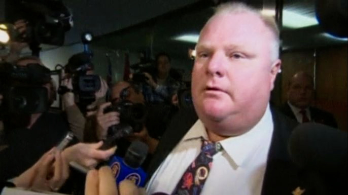 Страдавший от наркозависимости мэр Торонто госпитализирован с опухолью в брюшной полости. Скриншот видео.