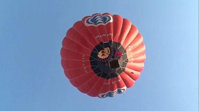 В Минске впервые прошел международный чемпионат по воздухоплаванию. Скриншот видео.