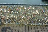 Замки любви, мост, Париж