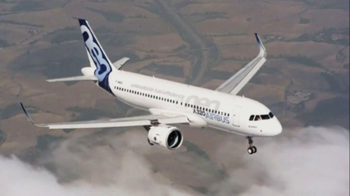 Airbus обновляет модели в ожидании глобального увеличения спроса на самолеты. Скриншот видео.