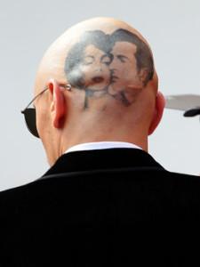 Лжетату на голове Джеймса Франко. Фото Vittorio Дзунино Celotto / Getty Images