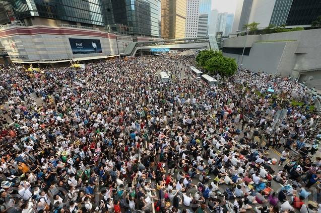 Протесты в Гонконге. 27-28 сентября 2014 года. Фото: The Epoch Times