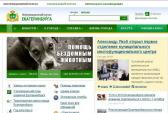 Скриншот информационного портала Екатеринбурга.