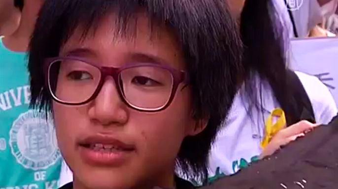 В Гонконге протест студентов поддержали школьники