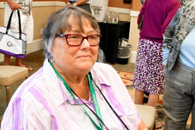 Дайан Коркоран, д-р философии и подполковник американской армии в отставке, на конференции IANDS, посвящённой околосмертным переживаниям, в Ньюпорт-Бич, Калифорния, 8 августа 2014 г. Фото: Tara MacIsaac/Epoch Times
