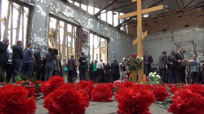 В Беслане почтили память жертв трагедии 2004 года. Скриншот видео.