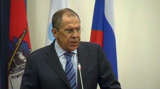 Вторжения на территорию Украины не будет, - Лавров. Скриншот видео.