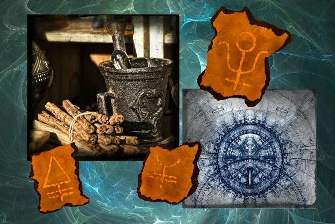Символы и инструменты алхимии. Фото: Shutterstock*