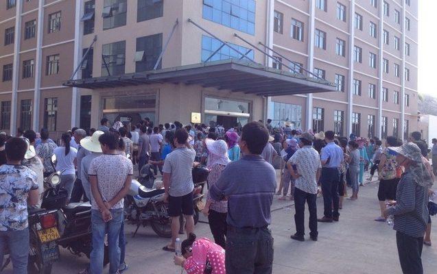 В Китае крестьяне разгромили судостроительный завод