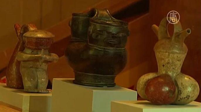 Похищенные археологические артефакты доколумбовой эпохи вернулись домой. Скриншот видео.