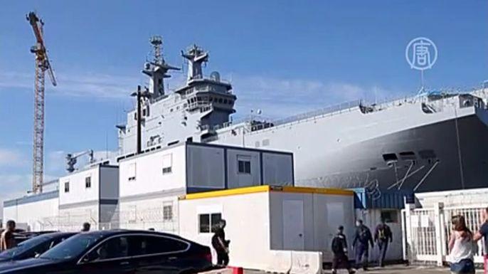 Правительство Франции задерживает отправку «Мистраля» России. Скриншот видео.