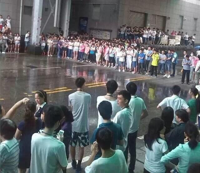 Забастовка рабочих. Провинция Гуандун. Сентябрь 2014 года. Фото с epochtimes.com