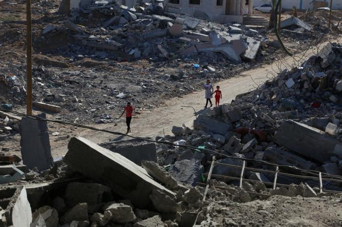 Израильская ракета за несколько секунд уничтожила 13-этажный дом в Газе